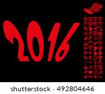2016 year pictograph with bonus ... | Shutterstock .eps vector #492804646
