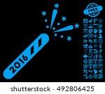 2016 firecracker pictograph... | Shutterstock .eps vector #492806425