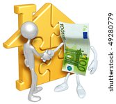 gold home puzzle and money   Shutterstock . vector #49280779