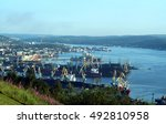 murmansk sea port  northern...   Shutterstock . vector #492810958