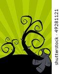 creepy halloween background   Shutterstock .eps vector #49281121