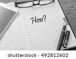 text how in a notebook  the... | Shutterstock . vector #492812602