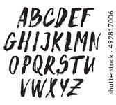 handwritten vector alphabet.... | Shutterstock .eps vector #492817006