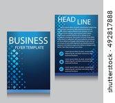 vector brochure flyer design... | Shutterstock .eps vector #492817888