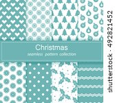 set of festive backgrounds.... | Shutterstock .eps vector #492821452