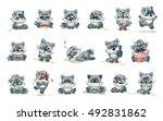 set vector stock illustrations... | Shutterstock .eps vector #492831862