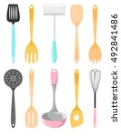 kitchen utensils. isolated... | Shutterstock .eps vector #492841486