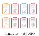 set of infographic elements... | Shutterstock .eps vector #492856366