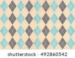 watercolor blue  beige and gray ... | Shutterstock . vector #492860542