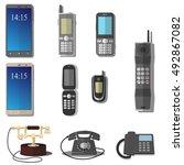 vector set of phones. mobile... | Shutterstock .eps vector #492867082