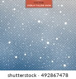 isolated falling snow | Shutterstock .eps vector #492867478