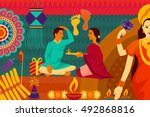 vector illustration of indian... | Shutterstock .eps vector #492868816