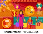 vector illustration of indian...   Shutterstock .eps vector #492868855
