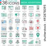 vector media advertising modern ... | Shutterstock .eps vector #492878395