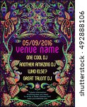 Psychedelic Trance Party Flyer...