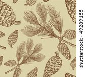 Vintage Seamless With Pine Cones