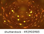 abstract fractal orange... | Shutterstock . vector #492903985