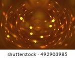 abstract fractal orange... | Shutterstock . vector #492903985