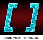 colorful 3d font isolated on... | Shutterstock . vector #492907906