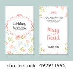 wedding set. romantic vector... | Shutterstock .eps vector #492911995