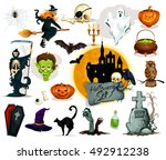 halloween traditional character....   Shutterstock .eps vector #492912238