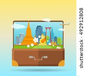 welcome to thailand concept web ... | Shutterstock . vector #492912808