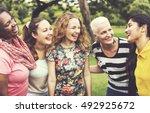group of women socialize...   Shutterstock . vector #492925672