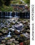 cascading waterfalls in the... | Shutterstock . vector #492928822
