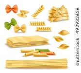 Dry Pasta Types Assortment Of...