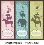 Stock vector animal pyramid bookmarks or banners grunge is removable 49293532