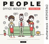 modern office people industry.... | Shutterstock .eps vector #492935362