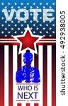 digital vector usa presidential ... | Shutterstock .eps vector #492938005
