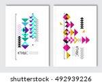 geometric colorful ethnic... | Shutterstock .eps vector #492939226
