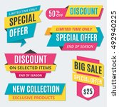 big sale banners  labels ... | Shutterstock .eps vector #492940225