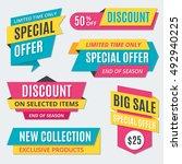 big sale banners  labels ... | Shutterstock .eps vector #492940225