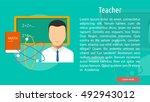 teacher conceptual banner | Shutterstock .eps vector #492943012