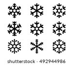 Snowflake Winter Set Of Black...