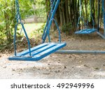 a swing toy childhood in... | Shutterstock . vector #492949996