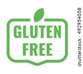 gluten free badge  logo  icon.... | Shutterstock .eps vector #492954058