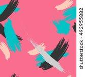 stylish seamless strokes... | Shutterstock .eps vector #492955882