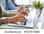 working with information | Shutterstock . vector #492957088