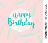 happy birthday hipster card... | Shutterstock .eps vector #492958966