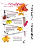 beauty and cosmetics background ... | Shutterstock .eps vector #492965812