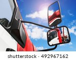 rear view mirror on the truck.... | Shutterstock . vector #492967162