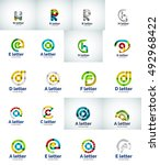 set of internet letter logo... | Shutterstock . vector #492968422