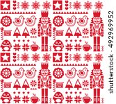 Christmas Seamless Red Pattern...