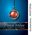 christmas vintage classic... | Shutterstock . vector #492970936