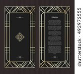 vector geometric cards in art... | Shutterstock .eps vector #492973555