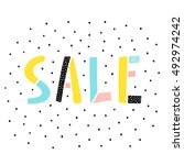 sale sign on white background | Shutterstock .eps vector #492974242