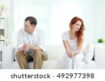 young couple with relationship... | Shutterstock . vector #492977398